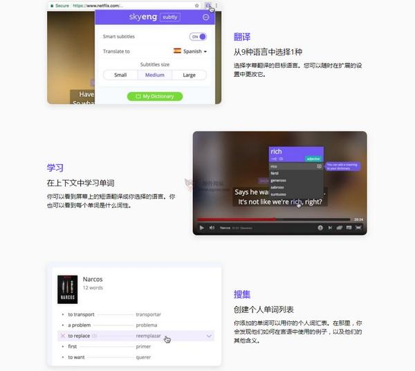 【工具类】Subtly|基于浏览器视频字幕翻译扩展