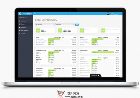 【经典网站】SimpleLegal:智能账单数据分析平台