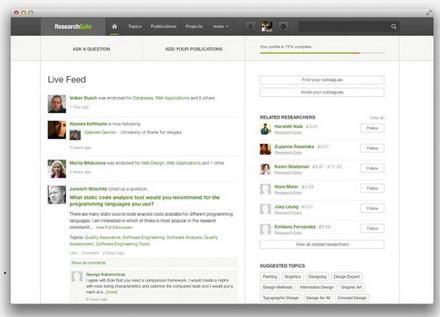 【经典网站】ResearchGate:学术界垂直社交网络平台
