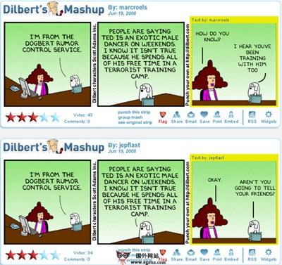 【经典网站】DilBert:斯科特·亚当斯幽默漫画网