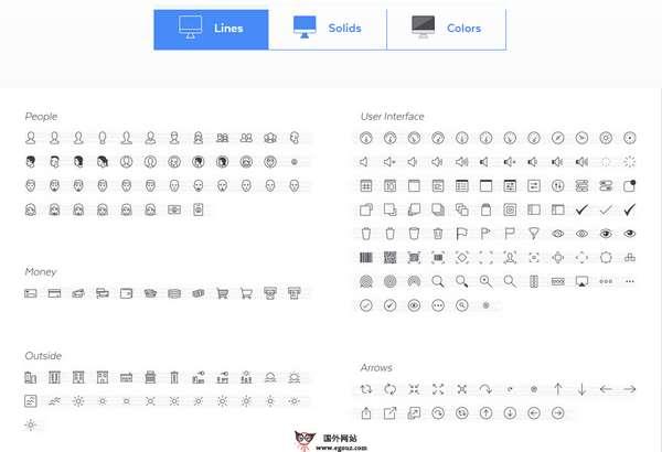 【素材网站】Pictos:高品质界面图标素材集