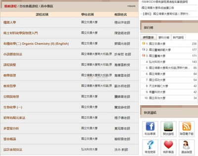 【经典网站】台湾开放式课程联盟