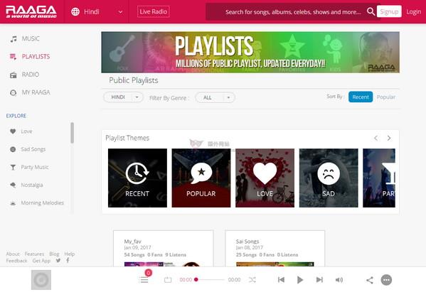 【经典网站】RaaGa|印度流行音乐资源库