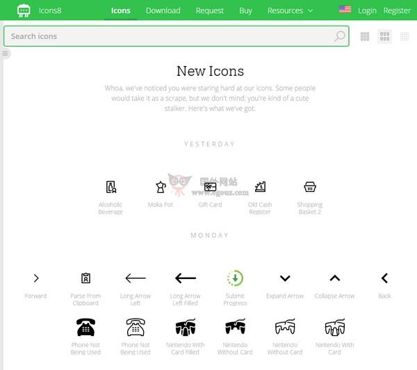 【素材网站】Icons8|免费扁平化图标搜索引擎