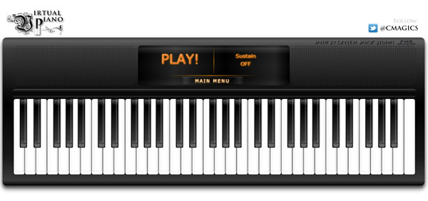【数据测试】免费在线弹奏钢琴:virtualpiano