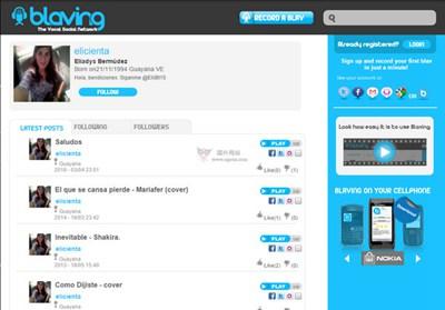 【经典网站】Blaving:在线语音社交平台