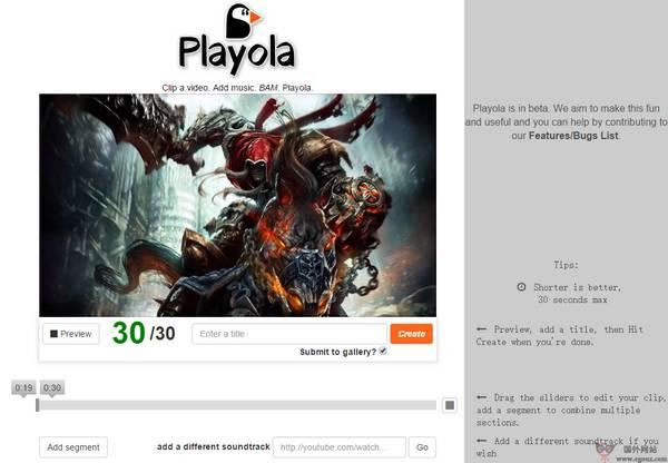 【工具类】在线Youtube视频编辑工具【Playola】