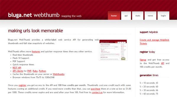【数据测试】在线截图云应用:WebThumb