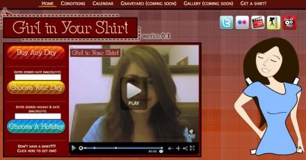 【经典网站】GirlInYourShirt:在线美女视频宣传网