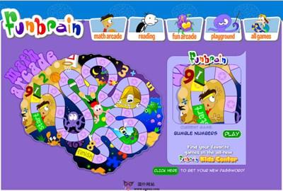 【经典网站】FunBrain:儿童在线教育游戏网