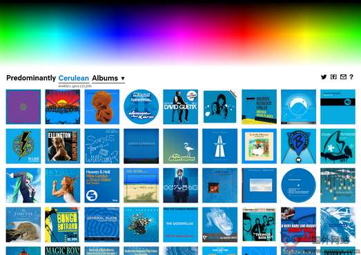 【经典网站】Predominant:基于颜色的音乐专辑试听网
