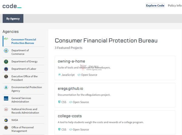 【经典网站】CodeGov|美国政府软体开源平台