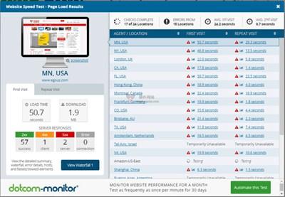 【工具类】DotcomTools|国际网站测速工具