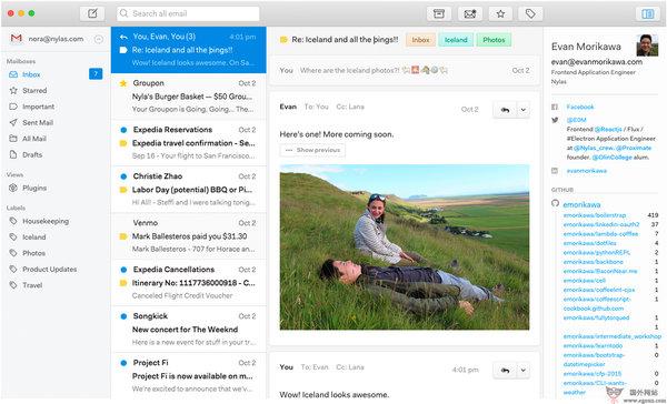 【工具类】NylasN1:免费开源邮件客户端