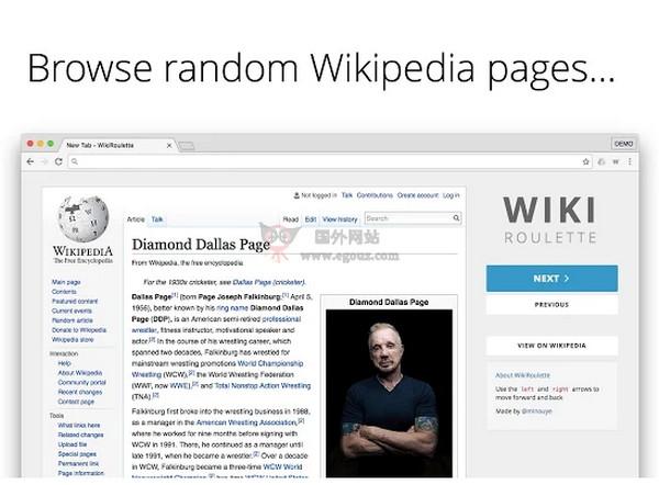 【经典网站】WikiRoulette|谷歌浏览器分页百科条词