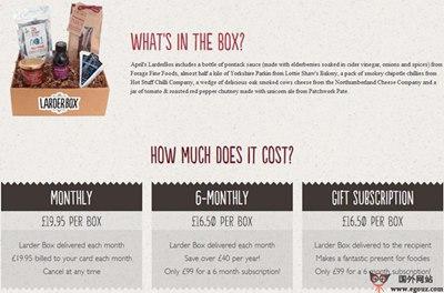 【经典网站】ThelarderBox:美食宝盒订阅网