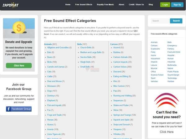 【素材网站】Zapsplat|免费音效和音乐资源库