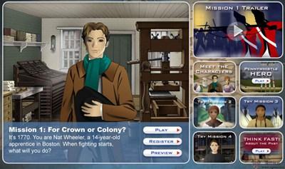 【经典网站】MissionUS:美国使命教学游戏网
