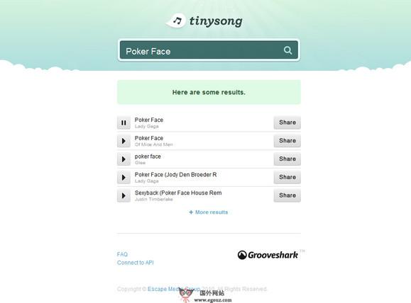 【经典网站】TingSong:在线音乐搜索试听网