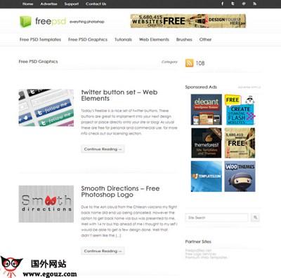 【素材网站】FreePSD:免费PSD资源下载网