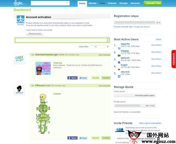 【经典网站】DigLo:文件分享社交平台