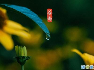 2021年谷雨说说-2020谷雨节气唯美说说配图 谷雨祝福唯美暖人心