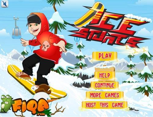 冰上滑板特技_【体育竞技滑雪游戏单机版】(3M)