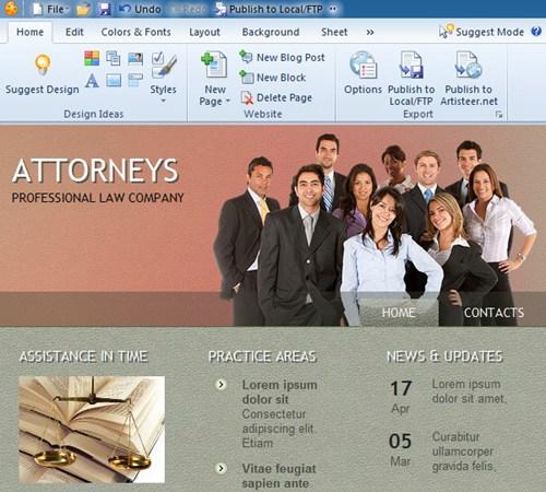 网站模板设计工具 Extensoft Artisteer_【网站模板网页制作,网页模板制作】(118M)